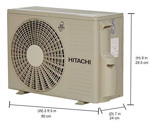 41KrFjuvumL Hitachi 1 Ton 3 Star Inverter Split AC (Copper RSG311HCEA White)