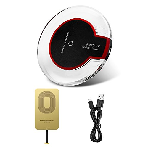 Cheap Chargers & Power Adapters Hengxin qi iphone wireless charger charging kit with receiver for iphone X..