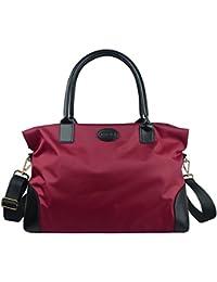 Unisex Large Travel Weekender Bag Duffle Bag Gym Totes in Trolley Handle