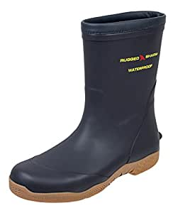 Rugged Shark Premium Fishing Deck Boots Great White with All-Day Comfort Footbed