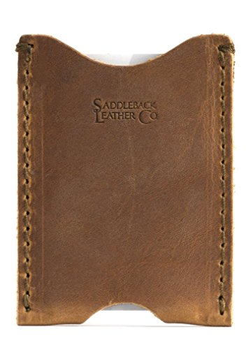 Saddleback Leather Co. Full Grain Leather Thin Sleeve Credit Card Wallet Includes 100 Year Warranty ()