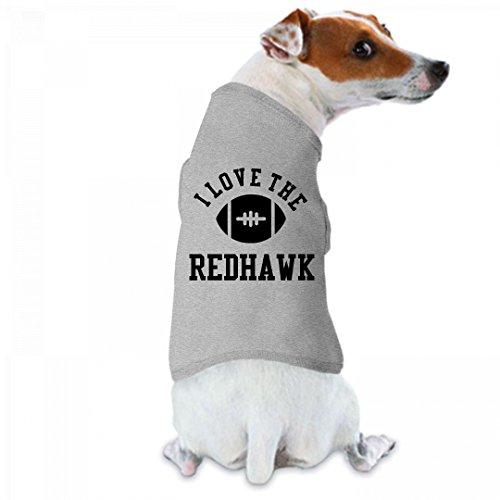Football Dog I Love The Redhawk: Doggie Skins Dog Tank Top (Redhawks Top)