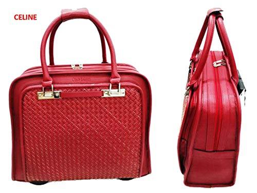 2cd38cf866d43 Damen Aktenkoffer mit Rollen Business Trolley Rot Bowatex  Amazon.de  Koffer