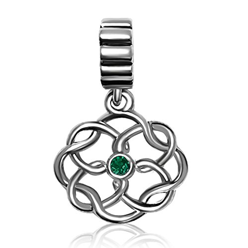 Charm Love Endless (JMQJewelry Love Endless Celtic Knot Vintage Patrick's Day Charms Beads For Bracelet)