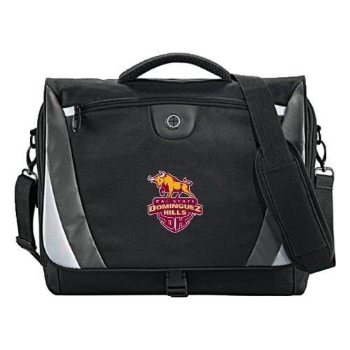 Cal State Domiguez Hills Slope Black/Grey Compu Messenger Bag 'Official Logo' by CollegeFanGear