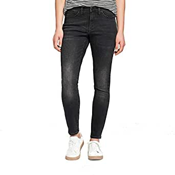 cff3e04fcfc8 Image Unavailable. Image not available for. Color: Universal Thread Women's  High-Rise Skinny Jeans Black ...