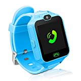 Kids Smart Watch Phone,Unlocked Waterproof Smart Phone Watch for Girls Boys with Camera Games Touchscreen,Children SOS Cell Phone Watch with SIM and SD Slot,Perfect Holiday Birthday Gifts(Blue)