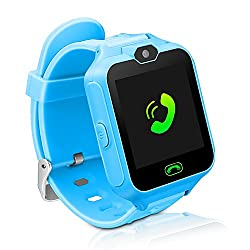 Kids Smart Watch Phone,unlocked Waterproof Smart Phone Watch For Girls Boys With Camera Games Touchscreen,children Sos Cell Phone Watch With Sim & Sd Slot,perfect Holiday Birthday Gifts(blue)
