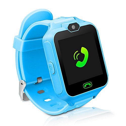 Kids Smart Watch Phone,Unlocked Waterproof Smart Phone Watch for Girls Boys with Camera Games Touchscreen,Children SOS Cell Phone Watch with SIM and SD Slot,Perfect Holiday Birthday Gifts(Blue) by MIMLI