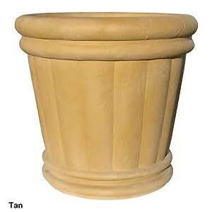 "Roman Round Urn Planter Size: 34"", Finish: Speckled Granite"