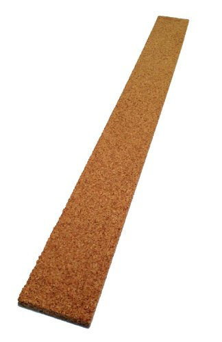 Thick Multi Purpose Cork Strips (Set of 8) Classroom Bulletin Board Bar 36 x 2.125 x 0.5 (Veneer Walnut Strips)