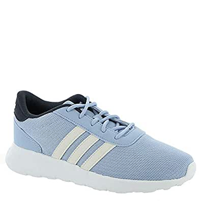 adidas Women's Lite Racer Running Shoes Glow Blue/Cloud White/Trace Blue 6.5