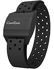 CooSpo Bluetooth & ANT+ Heart Rate Monitor Armband Optical HRM Sensor Waterproof IPX7 Fitness Tracker Armband Compatible with Zwift, Wahoo Fitness, Endomondo, Peloton(One More Free Armband)
