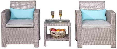 COSIEST 3-Piece Outdoor Patio Furniture Taupe