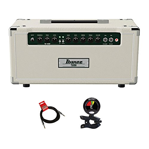 Ibanez TSA30H 30-watt All-tube Guitar Amplifier Head Bundle with Built-in TS9 Tube Screamer Tone Circuit and Separate Gain and Volume Controls with Clip On Guitar Tuner and Instrument ()