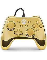 Power A Nintendo Switch Wired Controller, Chrome Gold Mario [Edizione: Regno Unito]