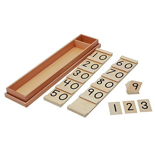 Montessori Math Teens and Tens Seguin Board with Bead Bars Wood Toys Early Childhood Education Preschool Training Baby by DANNI (Image #3)