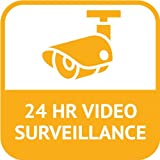 "24 Hours Video Surveillance Sign Security Car Bumper Sticker Decal 5"" x 5"""