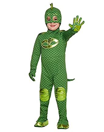 Amazon.com: Toddler Gekko PJ Masks Costume | Officially