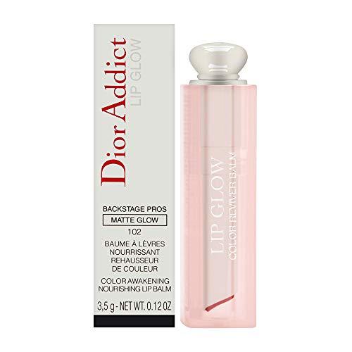 Christian Dior addict lip glow color awakening nourishing lipbalm 102 matte raspberry, 0.12 Ounce