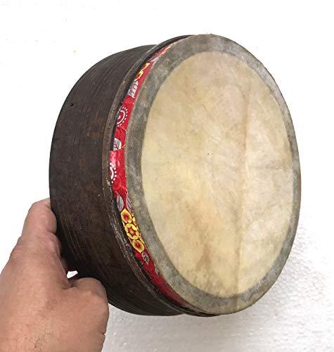 Khanjeera Hand Drum Percussion Dhapli Goat Skin Cover Small Size Premium Khamak