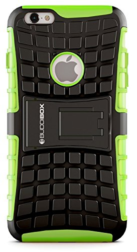(iPhone 6s Case, BUDDIBOX [Wave] Slim Rugged Durable Protective Case with Kickstand for Apple iPhone 6 and 6s, (Green))