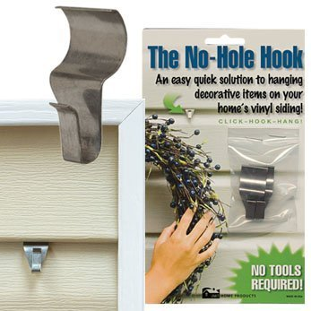 CWI Gifts Low Profile No Hole Hook, 1.5-Inch, 2-Pack (Outdoor Decor)