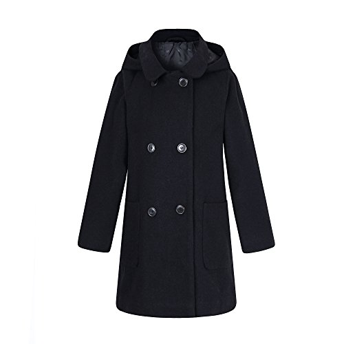 (Richie House Girls' Wool Double-Breasted Jacket)