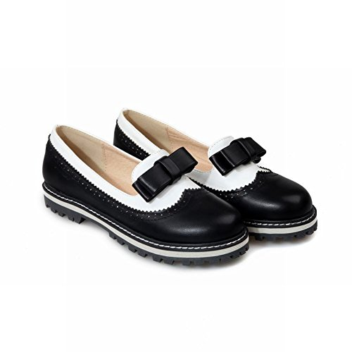 Womens Slip Flat Latasa Bow Black on Cute Shoes Loafers 7Tqq6xZw