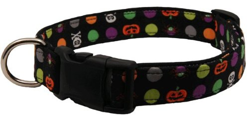 Country Brook Design | Deluxe Spots of Spooks Halloween Designer Dog Collar - M