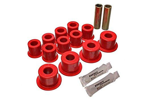Energy Suspension80-86 Nissan 720 And Hardbody Pickup 2Wd Red Rear Leaf Spring Bushing Set (7.2101R) ()