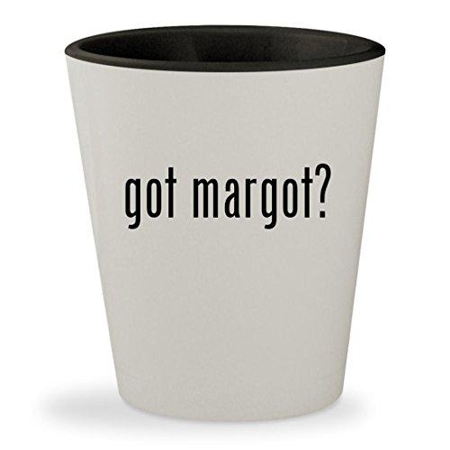 got margot? - White Outer & Black Inner Ceramic 1.5oz Shot - Tenenbaum Margot Coat