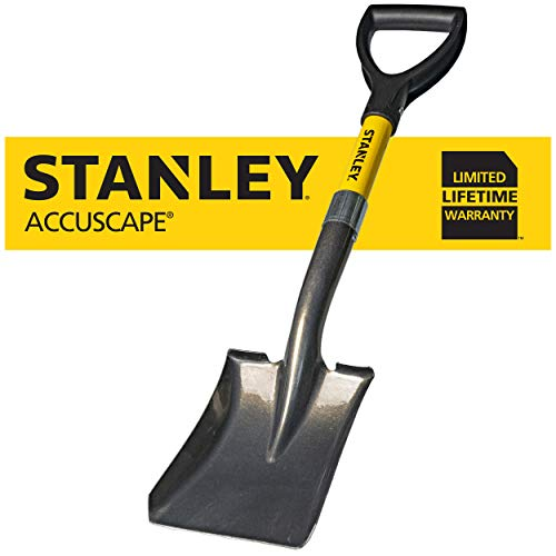 Stanley Garden BDS8088 Mini D-Handle Square Head Shovel, Yellow (Shovel D Handle Square)