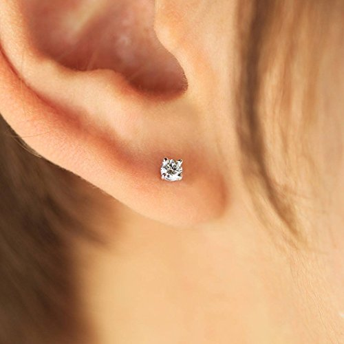 Solitaire Vs2 Earrings - Diamond Earrings, Diamond Studs, Diamond Solitaire Earrings, 14K Gold Diamond Studs, Brilliant Cut Diamond Stud Earrings, Various Settings