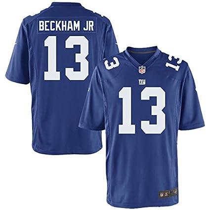 Amazon.com   Nike Odell Beckham New York Giants Blue Game Youth NFL ... f6e51b950