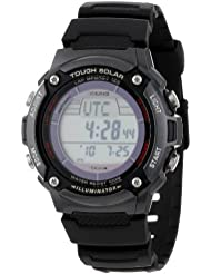 Casio Mens WS200H-1BVCF Tough Solar Sport Watch with Black Resin Band