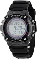 "Casio Men's WS200H-1BVCF ""Tough Solar"" Sport Watch with Black Resin Band"