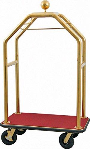 WAS 2245000 Gepäcktransportwagen 110x62 cm platinium gold, Teppichbelag bordeaux