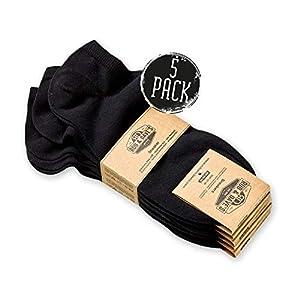 Rob & Dave's Chaussette Unisexe de sport – 5 paires – Hommes ou Femmes – Sneaker en noir et blanc – TOP OEKO TEX…