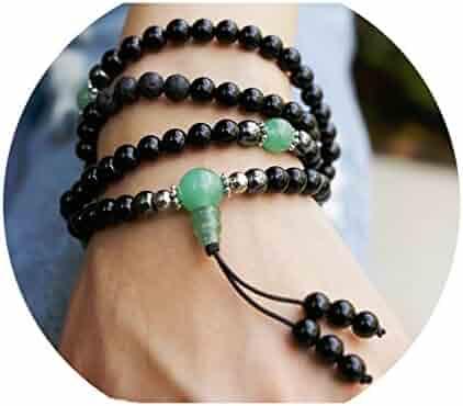 Buddhist Prayer Beads • Tibetan Mala Necklace • Healing Stones Bracelet • Chakra Jewelry for Meditation