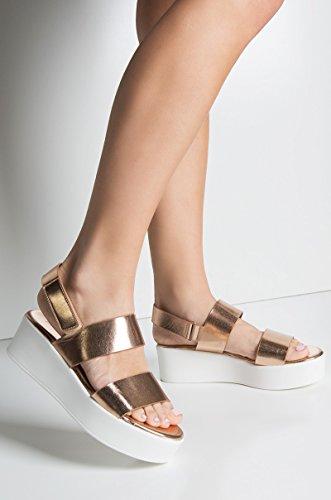 Cher Est Que Vous Plate-forme Sandale Rose Or