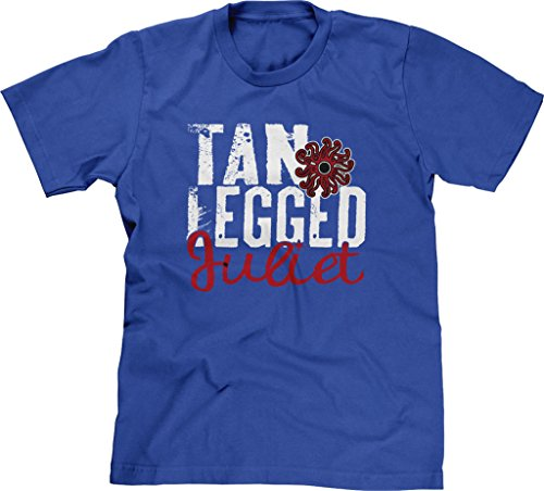 Blittzen Mens T-shirt Tan Legged Juliet, 2XL, Royal Blue - Tan Tractors