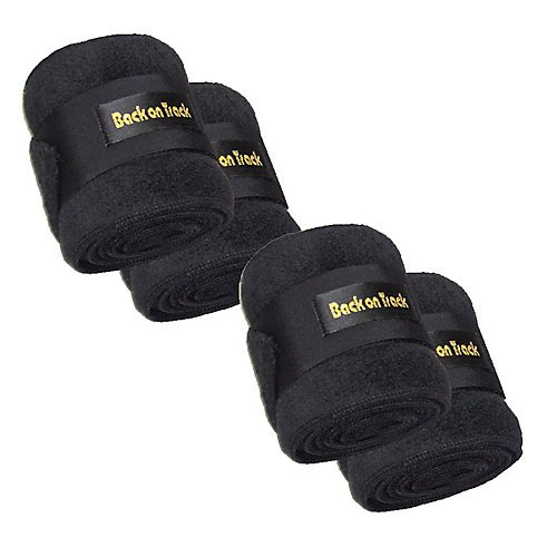 Back on Track Therapeutic Polo Wraps 4pk 9Ft Black by Back on Track