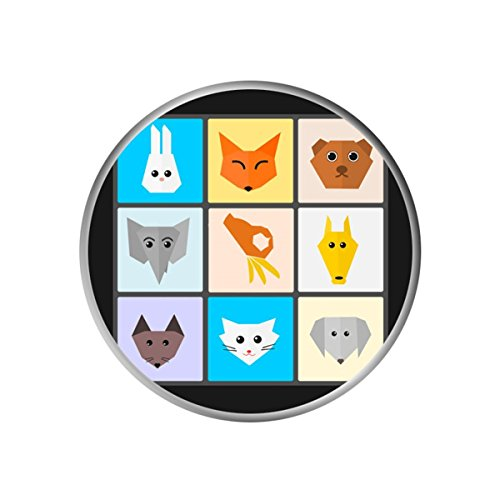 Origami Faces (Different Models Cell Phone Tablet Handset Pop Grip Mounts Stand Smartphone Support Holder Multi-function Expanding Socket - Animals Origami Face Square Lattice)