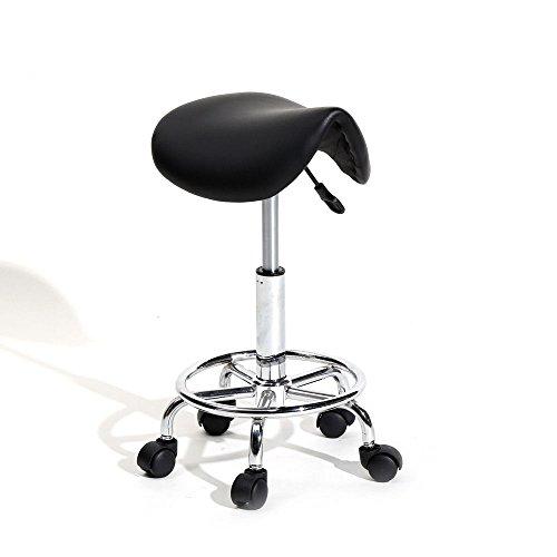 TimmyHouse Swivel Saddle Stool Modern Hydraulic Adjustable SPA Salon 5 Wheels Rolling Chair (Bench Rattan Asda)