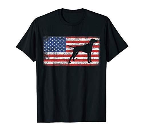 (Vintage Retro American Flag Plott Hound T-Shirt)