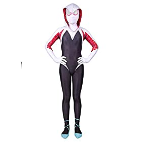 - 41KrP83AI2L - Spider Gwen Stacy Costume Into The Spider Verse Costume Kids 3D Style