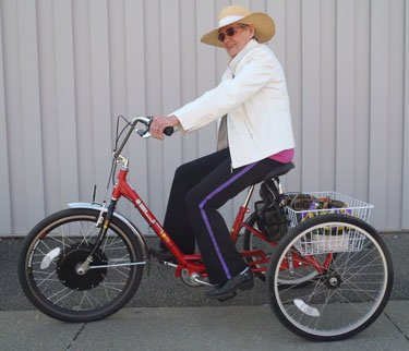 Shopper Adult Pedal Trike w/ 36V Electric Hub Motor