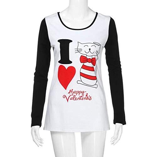 Casual Giovane Maniche Moda Camicetta Leggero Cuore Rotondo Modello Ragazze Autunno Shirts A White Bluse di Donna Eleganti Camicia Collo Tops Lunghe B Comodo Maglietta Primaverile xqCYHZnw