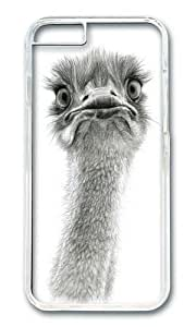 linJUN FENGApple Iphone 6 Case,WENJORS Cool Cute Ostrich SK053 Hard Case Protective Shell Cell Phone Cover For Apple Iphone 6 (4.7 Inch) - PC Transparent
